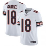 Wholesale Cheap Nike Bears #18 Taylor Gabriel White Men's Stitched NFL Vapor Untouchable Limited Jersey