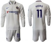 Wholesale Cheap Chelsea #11 Pedro Away Long Sleeves Soccer Club Jersey