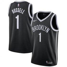 Wholesale Cheap Brooklyn Nets #1 Angelo Russell Black Nike Swingman Jersey