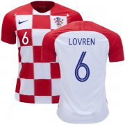 Wholesale Cheap Croatia #6 Lovren Home Kid Soccer Country Jersey