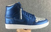 Wholesale Cheap Air Jordan 1 Retro Shoes Copper blue/white
