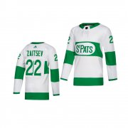 Wholesale Cheap Adidas Maple Leafs #22 Nikita Zaitsev White 2019 St. Patrick's Day Authentic Player Stitched Youth NHL Jersey