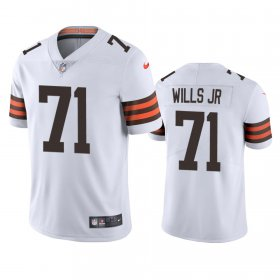 Wholesale Cheap Cleveland Browns #71 Jedrick Wills Men\'s Nike White 2020 NFL Draft Vapor Limited Jersey