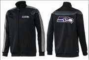 Wholesale Cheap NFL Seattle Seahawks Team Logo Jacket Black_3