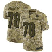 Wholesale Cheap Nike Bengals #78 Anthony Munoz Camo Men's Stitched NFL Limited 2018 Salute To Service Jersey