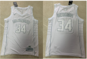 Wholesale Cheap Men's Milwaukee Bucks #34 Giannis Antetokounmpo White 2020 MVP Nike Swingman Stitched NBA Jersey