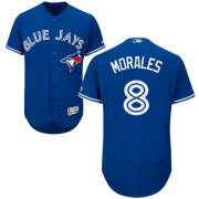 Wholesale Cheap Blue Jays #8 Kendrys Morales Blue Flexbase Authentic Collection Stitched MLB Jersey