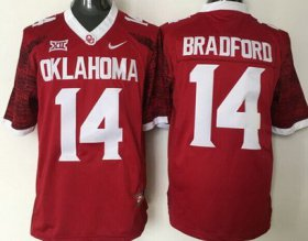 Wholesale Cheap Men\'s Oklahoma Sooners #14 Sam Bradford Red 2016 College Football Nike Limited Jersey