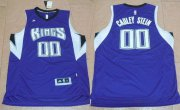 Wholesale Cheap Men's Sacramento Kings #00 Willie Cauley-Stein Revolution 30 Swingman 2015 New Purple Jersey
