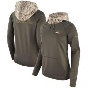 Wholesale Cheap Women's Tampa Bay Buccaneers Nike Olive Salute to Service Performance Pullover Hoodie