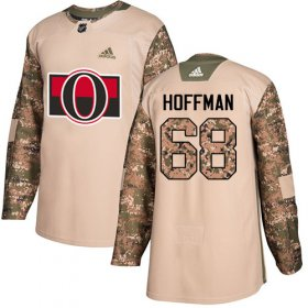 Wholesale Cheap Adidas Senators #68 Mike Hoffman Camo Authentic 2017 Veterans Day Stitched Youth NHL Jersey
