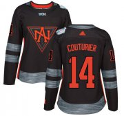 Wholesale Cheap Team North America #14 Sean Couturier Black 2016 World Cup Women's Stitched NHL Jersey