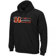 Wholesale Cheap Cincinnati Bengals Majestic Critical Victory VII Pullover Hoodie Black