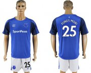 Wholesale Cheap Everton #25 Funes Mori Home Soccer Club Jersey