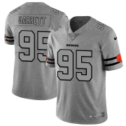 Wholesale Cheap Cleveland Browns #95 Myles Garrett Men's Nike Gray Gridiron II Vapor Untouchable Limited NFL Jersey