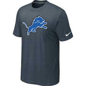 Wholesale Cheap Nike Detroit Lions Sideline Legend Authentic Logo Dri-FIT NFL T-Shirt Crow Grey