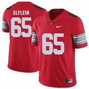 Wholesale Cheap Ohio State Buckeyes 65 Pat Elflein Red 2018 Spring Game College Football Limited Jersey