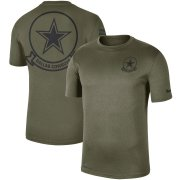 Wholesale Cheap Men's Dallas Cowboys Nike Olive 2019 Salute to Service Sideline Seal Legend Performance T-Shirt