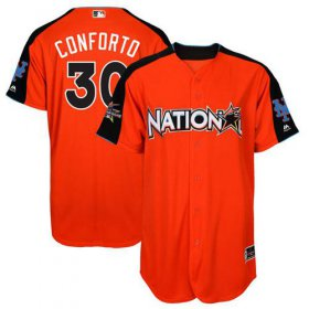 Wholesale Cheap Mets #30 Michael Conforto Orange 2017 All-Star National League Stitched Youth MLB Jersey