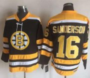 Wholesale Cheap Bruins #16 Derek Sanderson Black/Yellow CCM Throwback New Stitched NHL Jersey