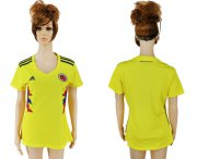 Wholesale Cheap Women's Colombia Blank Home Soccer Country Jersey