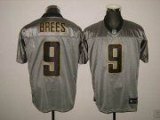 Wholesale Cheap Saints #9 Drew Brees Grey Shadow Stitched NFL Jersey