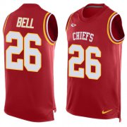 Wholesale Cheap Nike Chiefs #26 Le'Veon Bell Red Team Color Men's Stitched NFL Limited Tank Top Jersey