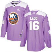 Wholesale Cheap Adidas Islanders #16 Andrew Ladd Purple Authentic Fights Cancer Stitched Youth NHL Jersey