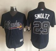 Wholesale Cheap Braves #29 John Smoltz Blue New Cool Base Stitched MLB Jersey