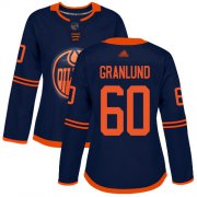 Wholesale Cheap Adidas Oilers #60 Markus Granlund Navy Alternate Authentic Women's Stitched NHL Jersey
