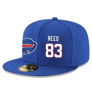 Wholesale Cheap Buffalo Bills #83 Andre Reed Snapback Cap NFL Player Royal Blue with White Number Stitched Hat