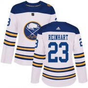 Wholesale Cheap Adidas Sabres #23 Sam Reinhart White Authentic 2018 Winter Classic Women's Stitched NHL Jersey