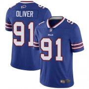 Wholesale Cheap Nike Bills #91 Ed Oliver Royal Blue Team Color Men's Stitched NFL Vapor Untouchable Limited Jersey