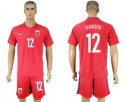 Wholesale Cheap Norway #12 Hansen Home Soccer Country Jersey