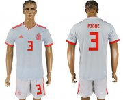 Wholesale Cheap Spain #3 Pique Away Soccer Country Jersey