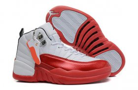 Wholesale Cheap Air Jordan 12 Retro GS Womens Shoes White/red