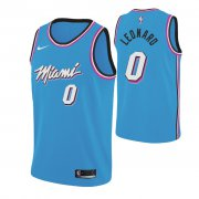 Wholesale Cheap Nike Heat #0 Meyers Leonard 2019-20 Men's Blue Miami City Edition NBA Jersey