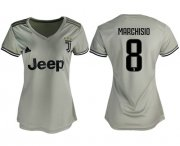 Wholesale Cheap Women's Juventus #8 Marchisio Away Soccer Club Jersey