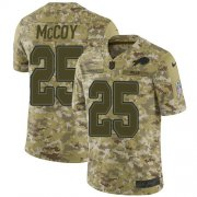 Wholesale Cheap Nike Bills #25 LeSean McCoy Camo Men's Stitched NFL Limited 2018 Salute To Service Jersey