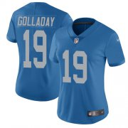 Wholesale Cheap Nike Lions #19 Kenny Golladay Blue Throwback Women's Stitched NFL Vapor Untouchable Limited Jersey