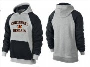 Wholesale Cheap Cincinnati Bengals Heart & Soul Pullover Hoodie Grey & Black