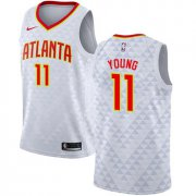 Wholesale Cheap Hawks #11 Trae Young White Basketball Swingman Association Edition Jersey
