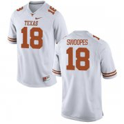 Wholesale Cheap Men's Texas Longhorns 18 Tyrone Swoopes White Nike College Jersey