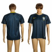 Wholesale Cheap Brazil Blank Training Soccer Country Jersey