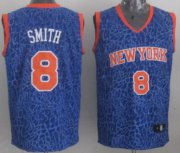 Wholesale Cheap New York Knicks #8 J.R. Smith Blue Leopard Print Fashion Jersey