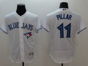Wholesale Cheap Blue Jays #11 Kevin Pillar White Flexbase Authentic Collection Stitched MLB Jersey