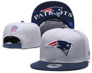 Wholesale Cheap Patriots Team Logo Gray Navy Adjustable Hat TX