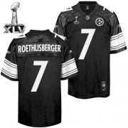 Wholesale Cheap Steelers #7 Ben Roethlisberger Black Shadow Super Bowl XLV Stitched NFL Jersey