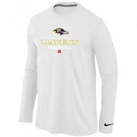Wholesale Cheap Nike Baltimore Ravens Critical Victory Long Sleeve T-Shirt White