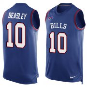 Wholesale Cheap Nike Bills #10 Cole Beasley Royal Blue Team Color Men's Stitched NFL Limited Tank Top Jersey